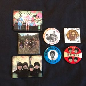 Other - Vintage collectible Beatles Buttons and Magnets